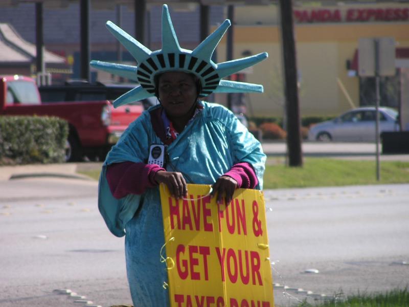 Lady Liberty at Tax Time.JPG