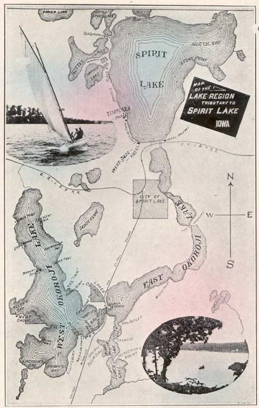 Lakes Area Map 1908