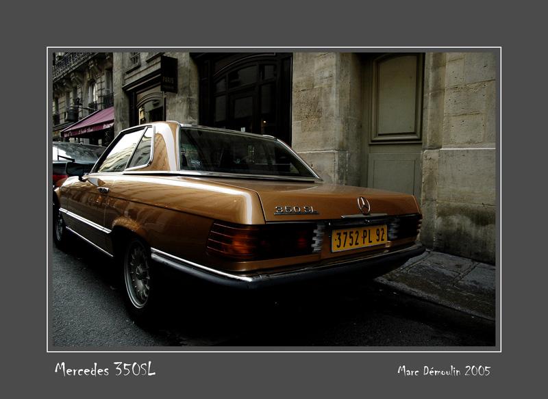 MERCEDES 350 SL Paris - France