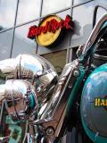 Harley in Front of Hard Rock Cafe Cologne