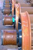 A row of trainwheels