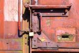 Locks on old wagon