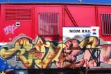 Graffiti on trainwagon