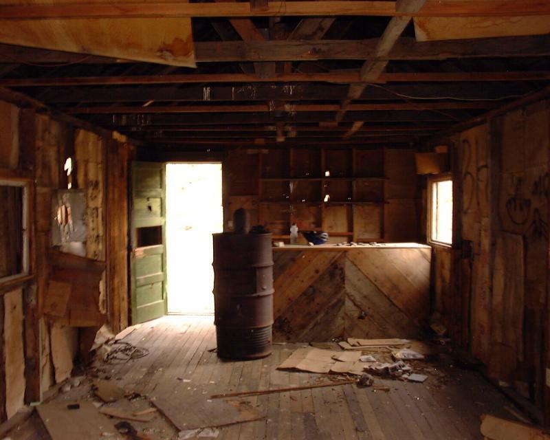 Inside the saloon, Saline Valley Road