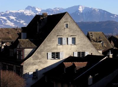 mountainous houses - ethereal mountains
