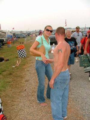 lost German girl Talladegasuper Speedway October 2004