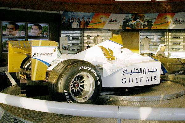Gulf Air sponsored car for the Bahrain Grand Prix