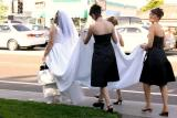 Walking to the Wedding Location