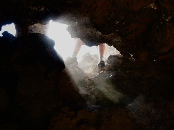 In the Belly of the Pisgah Crater