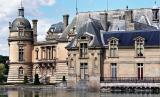 Le château de Chantilly photographié en fin de journée