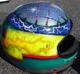 airbrush moto casque helmet