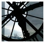 Sacre Coeur: Through the Great Clock at Musee D'Orsay