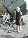 A Swift owner at the Astor Place Cube