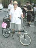 Dahon Boardwalk and definitely NOT a fan of George W. pre-ride at The Cooper Union