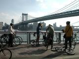 East River railing ...Manhattan Bridge in the background....