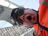 Your gallery owner mugging for the camera on the Brooklyn Bridge