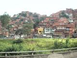 Barrio clinging to the hillside