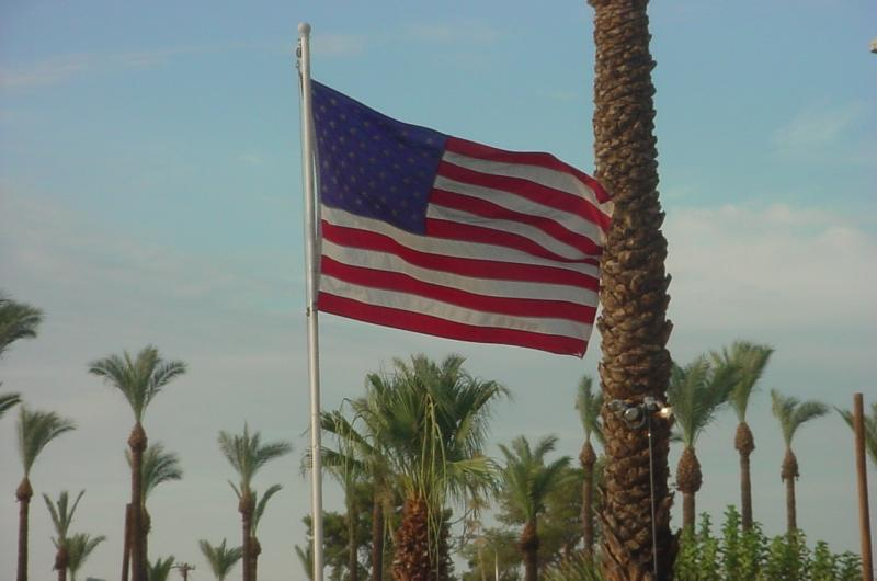 American Flag<br>at Paridise Palms