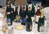 Just a few of the Belgian and Belgian-style beers served at the banquet