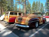 1948 Ford Sportsman Convertible (foreground) (woodie)