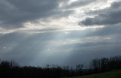 dark sky with rays