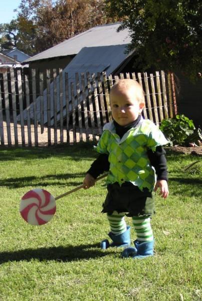 Nick in his Halloween costume