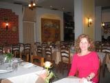 Ger in the empty restaurant.JPG