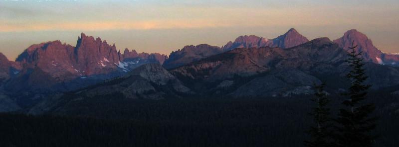 Minaret Summit Sunrise 6:31am