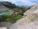 Climbing Duck Pass Above Barney Lake 2pm