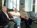 Don, Bob & Gordy Searl at Phila Airport heading for Europe and the 14 Day Matterhorn Tour of Normandy & Beyond