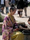 Traditional Singer at Osaka Castle