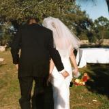 Walking down aisle finally married
