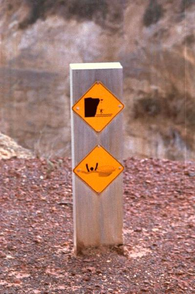 Watch for falling rocks & be careful of the tides!