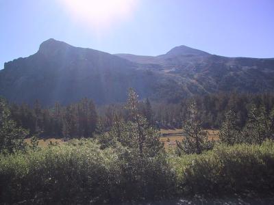 Mount Dana: View of Mount Dana from the Tioga Pass parking lot.