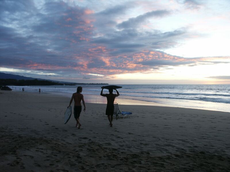 Endless Summer, Surfers at Hapuna Beach