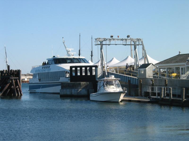 Hyannis ferry in the Vineyard docks