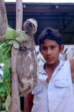 Boy with sloth