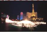 Bellagio fountains, Bally's, and Paris