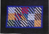 049:Stripes crib-Wisconsin c. 1930  59x42