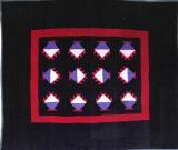 057:Sawtooth Basket crib-Midwest c.1930 40x32