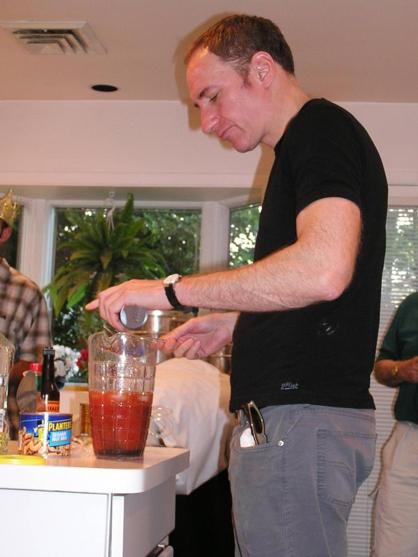 David making the perfect Bloody Mary