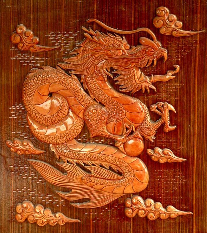 Buddhist Temple Dragon