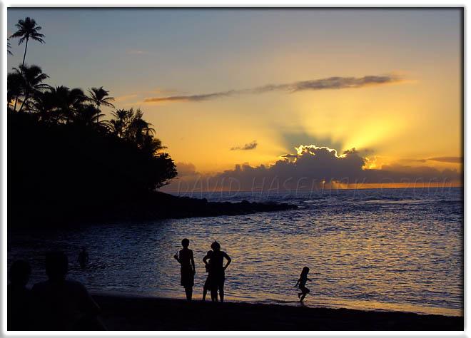 Sunset at Kee Beach (near Bali Hai)