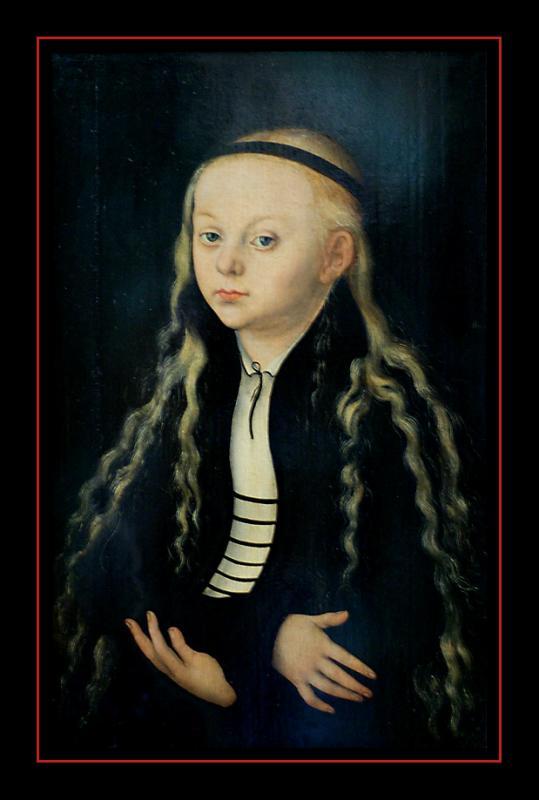 Portrait de fillette (1530) parLucas CRANACH LANCIEN