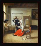 La Buveuse (1658) par Pieterde HOOCH