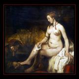 Bethsabée au bain (1654) par REMBRANDT