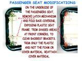 XV535 PASSENGER SEAT MODIFICATIONS FOR BACKREST