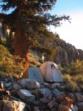 Split Mountain: Morning at the round campsite.