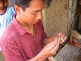 getting my own ring made in Lombok at the basket weaving shop
