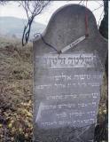 Shlomo Zalman PERLSHTEIN* son of Moshe Eliezer Died night of 13 Elul 5689 (18 September 1929) Always a righteous man (Note: acrostic poem on right side.  The first letter of the last 4 lines spell the name Shlomo.)  *According to his grandson, Shlomo Zalman's surname is PERLSHTEIN